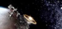 Explosion de l'ogive nucléaire vue depuis l'espace